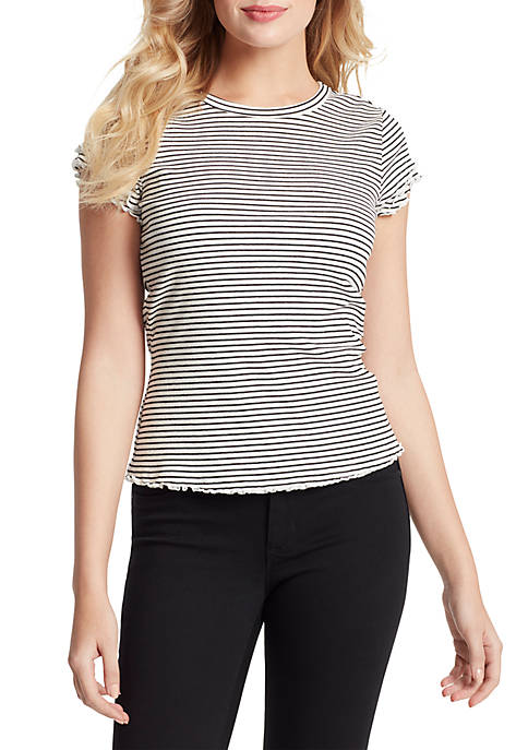 Jessica Simpson Solid Short Sleeve T Shirt