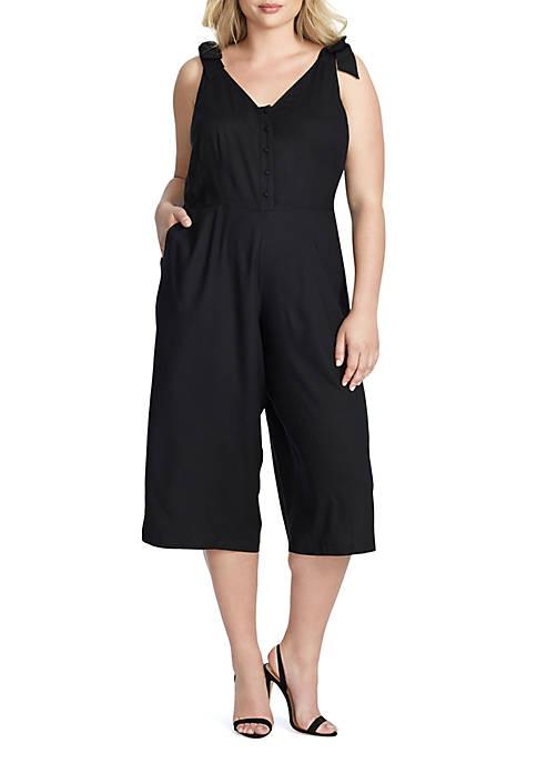 Jessica Simpson Plus Size Wes Tie Strap Jumpsuit