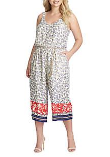 Jessica Simpson Plus Size Jackie Cropped Jumpsuit