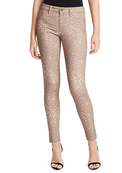 Jessica Simpson Kiss Me Super Skinny Cheetah Jeans