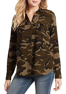 Jessica Simpson Petunia Long Sleeve Woven Blouse