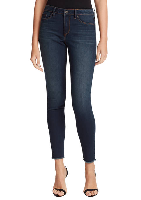 Jessica Simpson Womens Kiss Me Exposed Button Skinny