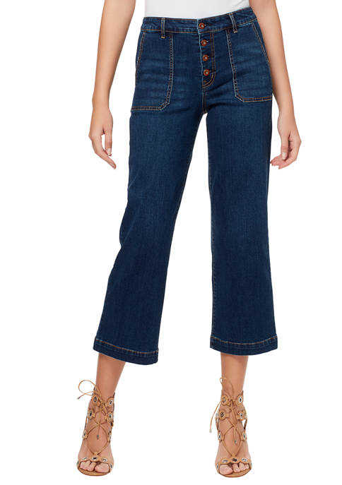 Jessica Simpson Adored Wide Leg Utility Pocket Crop