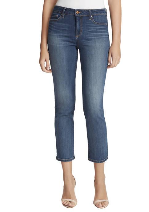 Jessica Simpson Womens Arrow Straight Ankle Denim Jeans