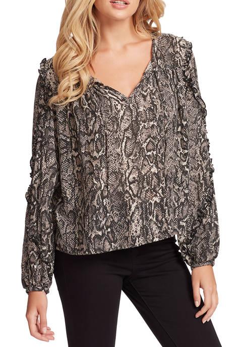 Jessica Simpson Songbird Long Sleeve Floral Blouse