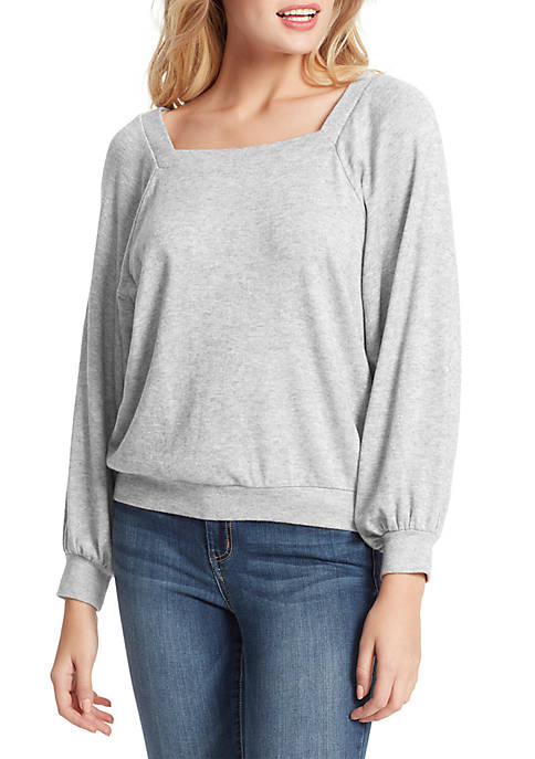Jessica Simpson Reign Long Sleeve Brush Knit Top