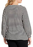 Plus Size Brit Long Sleeve Waffle Knit Top