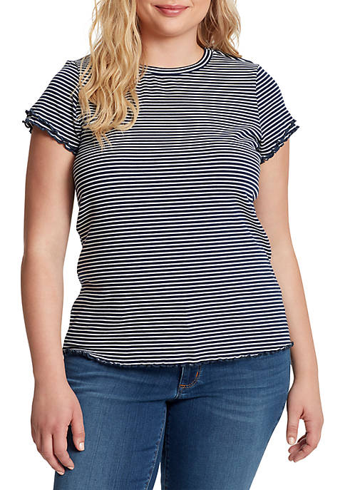 Jessica Simpson Plus Size Nia Lettuce Edge Knit