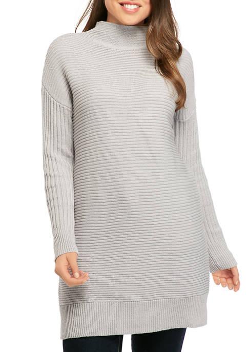 Jessica Simpson Maeve Mock Neck Knit Sweater