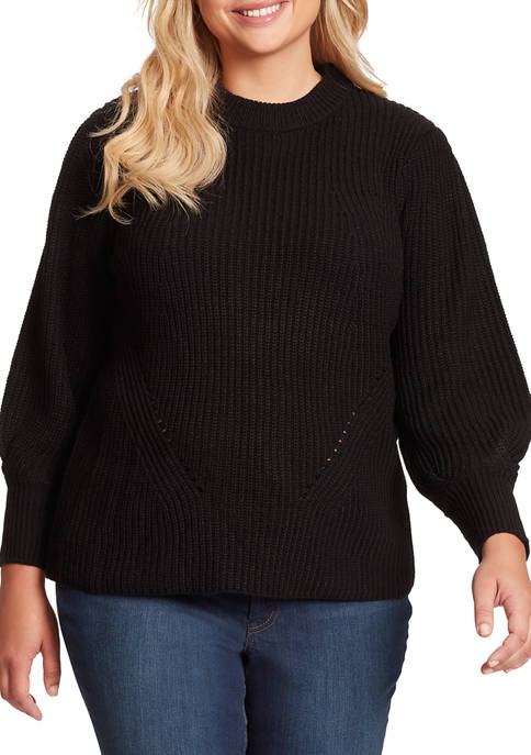 Jessica Simpson Plus Size Addison Rib Full Sleeve