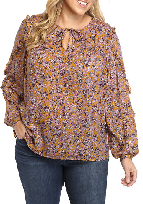 Jessica Simpson Plus Size Long Sleeve Blouse