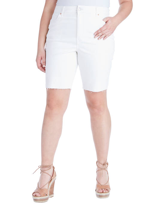 Jessica Simpson Plus Size Adored Slim Bermuda Shorts