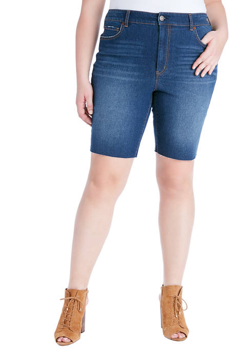 Jessica Simpson Curvy Adored Slim Bermuda Shorts