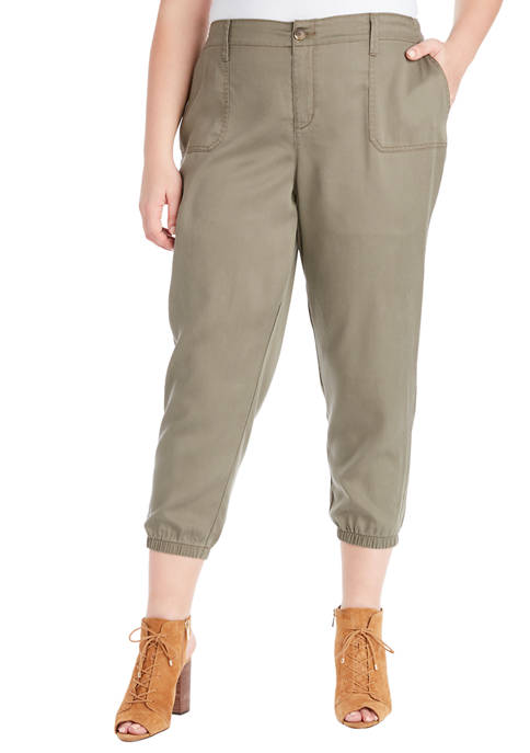 Plus Size Utility Jogger Pants