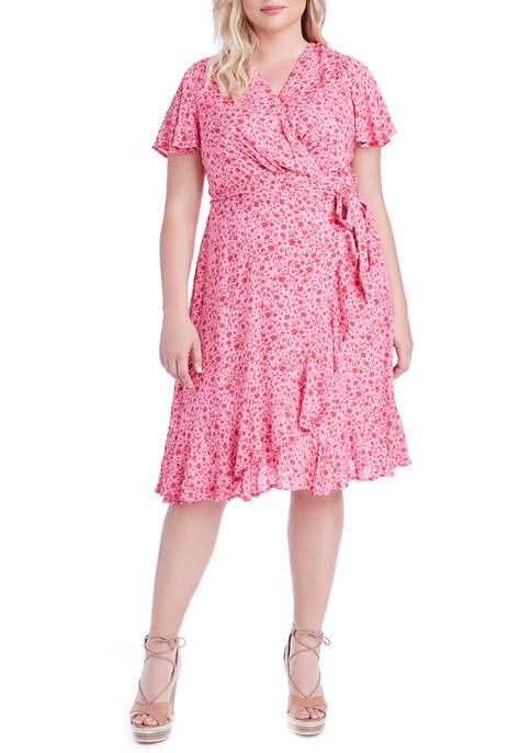 Jessica Simpson Plus Size Ellie Wrap Dress