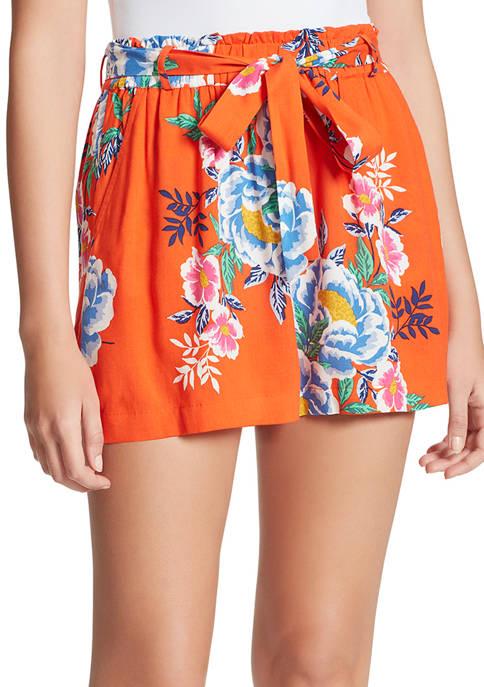 Jessica Simpson Shira Self Belt Shorts