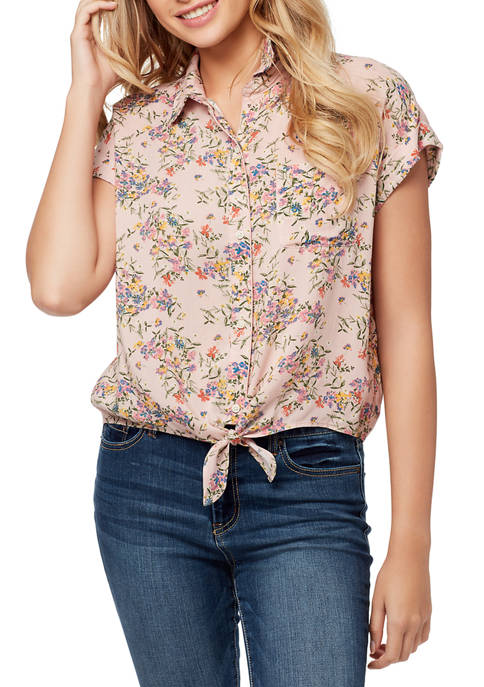 Jessica Simpson Robyn Tie Front Top