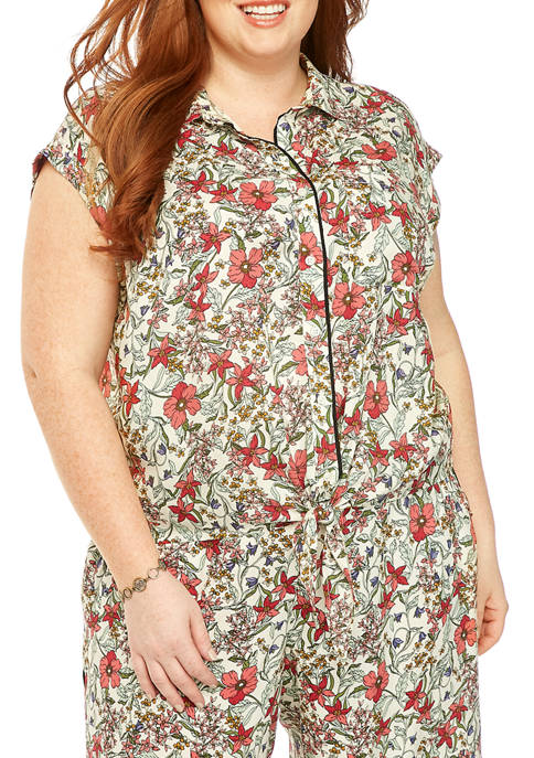 Jessica Simpson Plus Size Robyn Tie Front Top