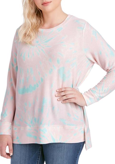 Jessica Simpson Plus Size Sky Side Slit Top