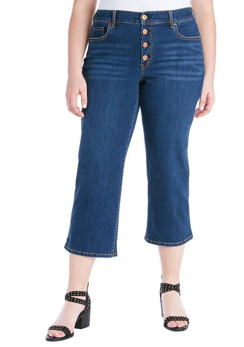 Curvy Adored High Rise Wide Crop Jeans
