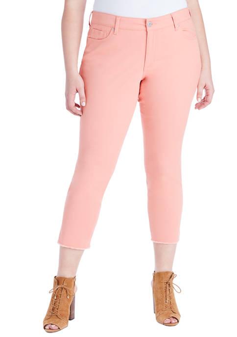 Plus Size Arrow Straight Ankle Jeans
