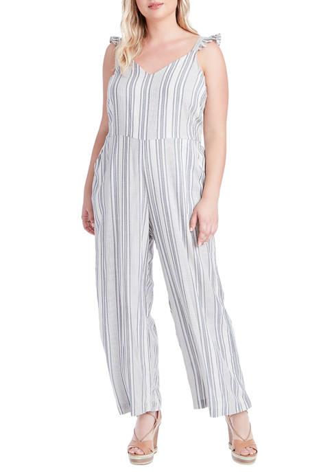 Jessica Simpson Plus Size Martina Sleeve Jumpsuit
