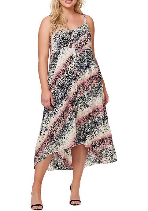 Jessica Simpson Plus Size Tautou High Low Dress