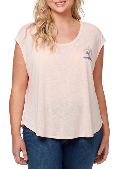 Jessica Simpson Plus Size Asher Bahamas Graphic T-Shirt