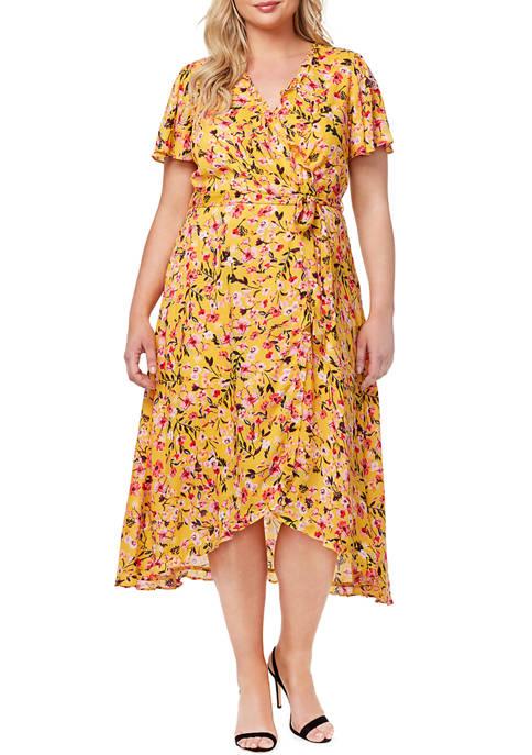 Jessica Simpson Floral Wrap Dress