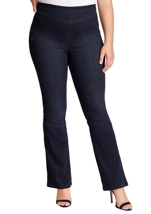 Jessica Simpson Plus Size Lorae Flare Leg Jeans
