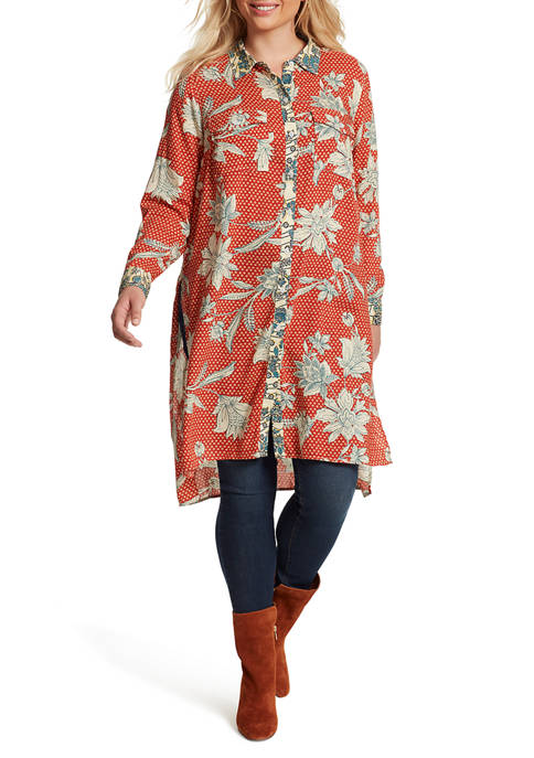 Plus Size Lori Floral Duster