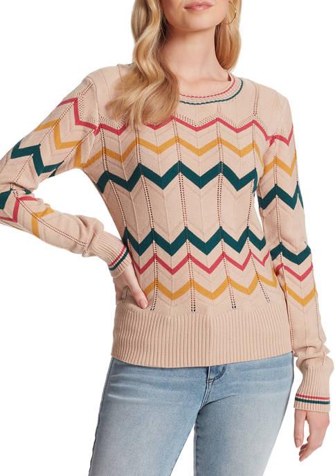 Jessica Simpson Marcelina Zig Zag Sweater