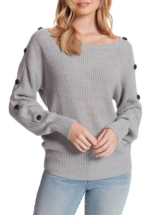 Jessica Simpson Adley Button Sleeve Sweater