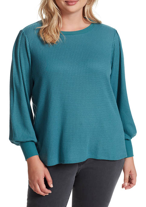Plus Size Wilder Pleated Sleeve Top