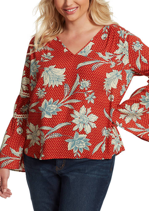 Jessica Simpson Plus Size Scarlette Smocked Top