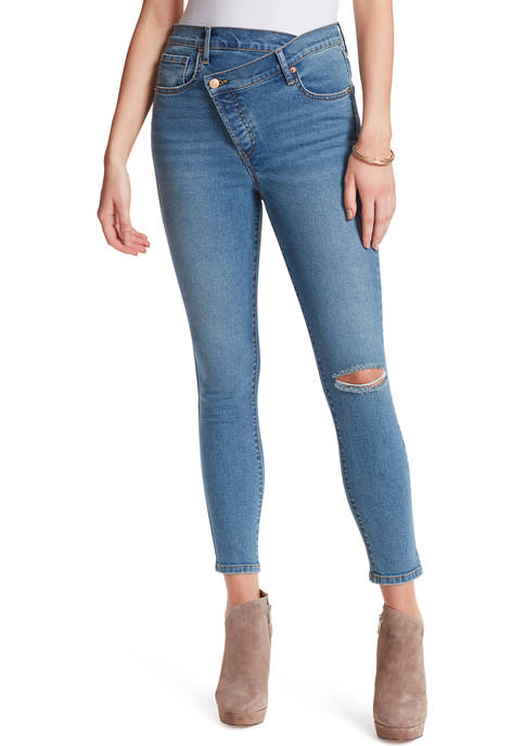 Asymmetric Tapered Skinny Jeans