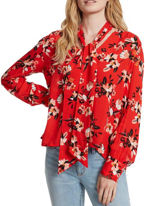 Jessica Simpson Dazed Floral Woven Top