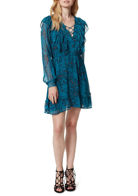 Jessica Simpson Barry Ruffle Lace Up Long Sleeve