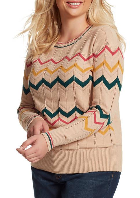 Jessica Simpson Plus Size Marcelina Ric Rac Sweater