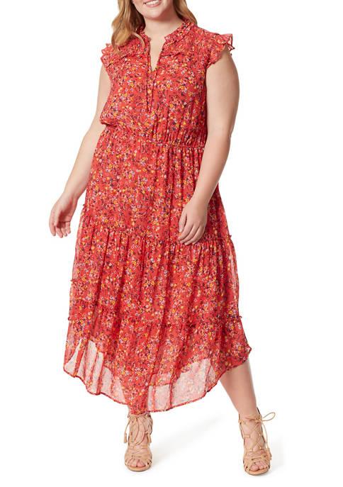 Jessica Simpson Plus Size Katie Midi Dress