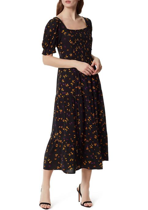 Jessica Simpson Floral Square Neck Midi Dress
