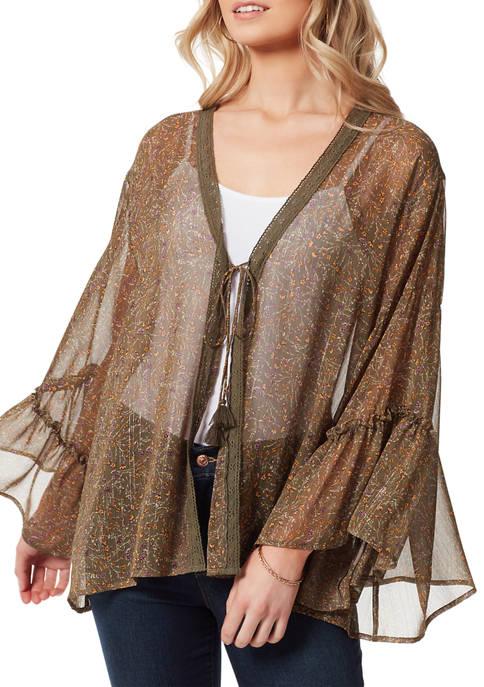 Jessica Simpson Floral Bell Sleeve Kimono