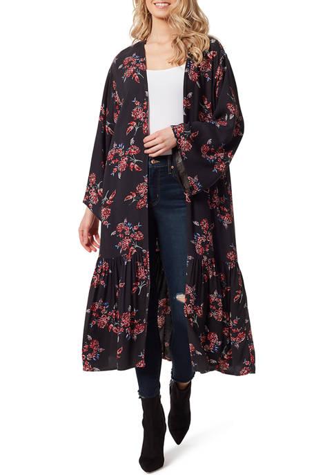 Jessica Simpson Leilani Tiered Kimono Duster