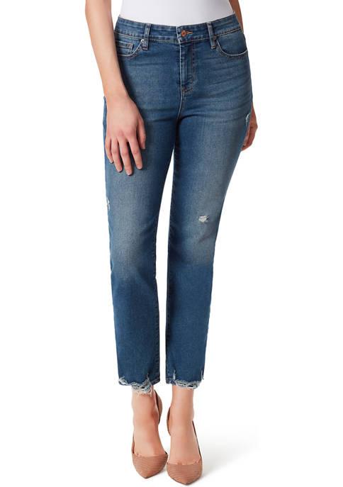Jessica Simpson Spotlight High Rise Slim Straight Jeans