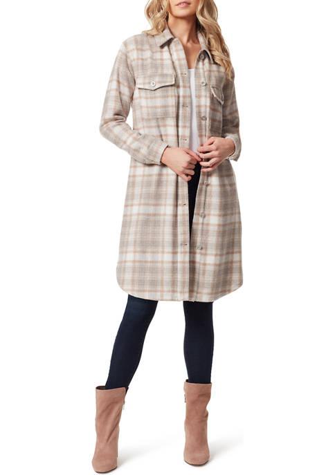 Jessica Simpson Roe Long Shirt Jacket