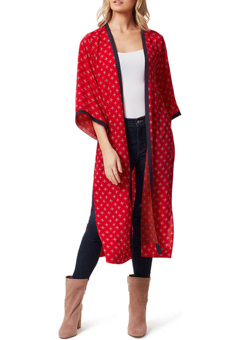 Jessica Simpson Plus Size Kimono Side Slit Duster