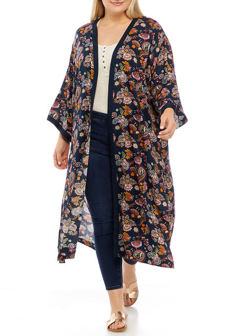 Jessica Simpson Plus Size Gwendelin Duster