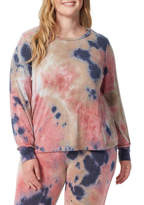 Jessica Simpson Plus Size Rainey Tie Dye Top