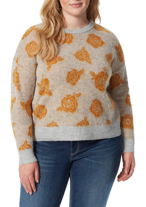 Jessica Simpson Plus Size Patterned Pullover Sweater
