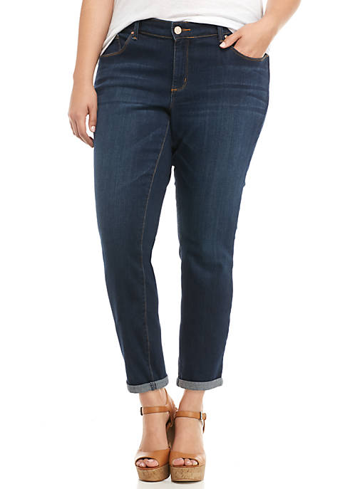 Jessica Simpson Plus Size Forever Rolled Skinny Jeans